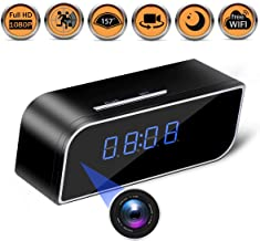 Spy Hidden Camera - Alarm Clock,Baby Monitor,HD 1080P Security Surveillance Cameras Nanny Cam with Motion Detection,Video Recording/Remote Monitoring with iOS/Android App