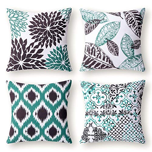 Phantoscope® New Living Black&White Decorative Throw Pillow Case Cushion Cover Set of 4 by PHANTOSCOPE