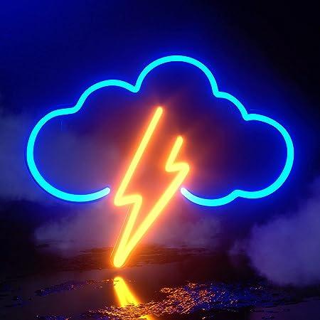 Koicaxy Neon Sign, Acryl Wolke Neon Light, Batterie oder USB Powered Neon Licht Wand Led Deko Neon Schild für Schlafzimmer, Kinderzimmer, Wohnzimmer, Bar, Party, Weihnachten