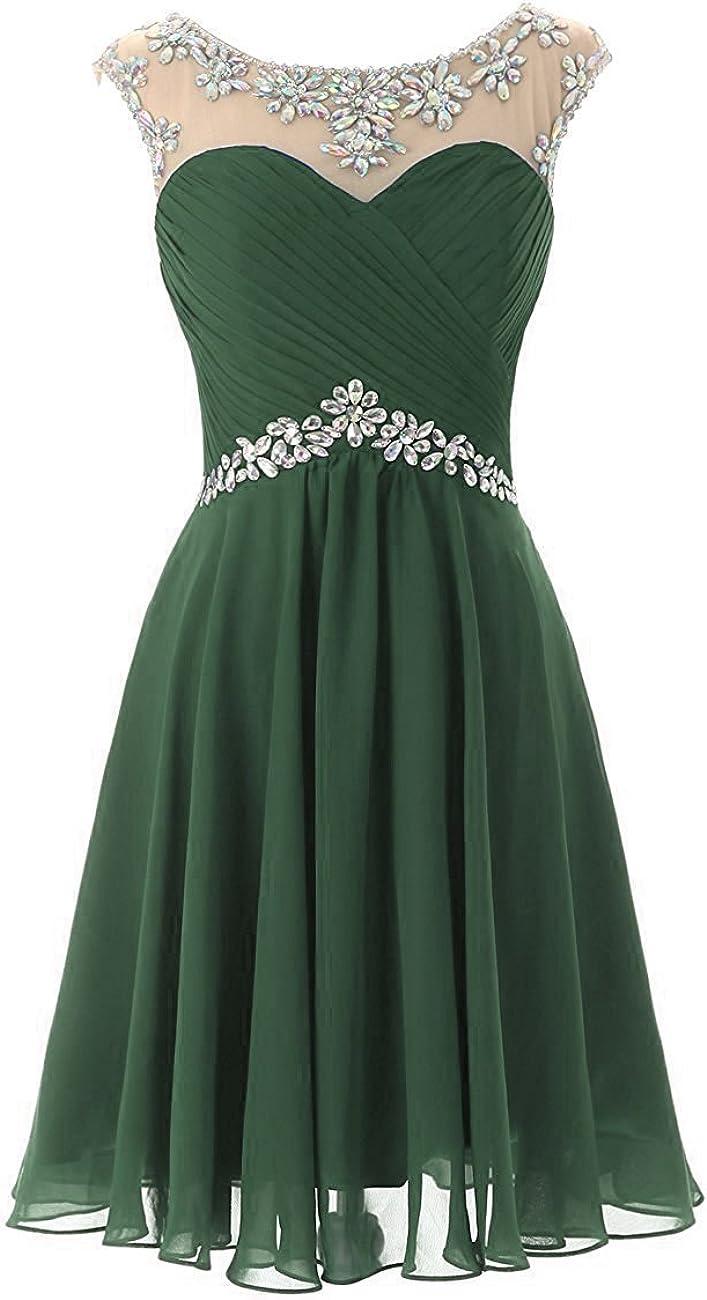 Dresstory Max 65% OFF Short Prom Atlanta Mall Dress Beaded Chiffon Homecoming Gown Weddin