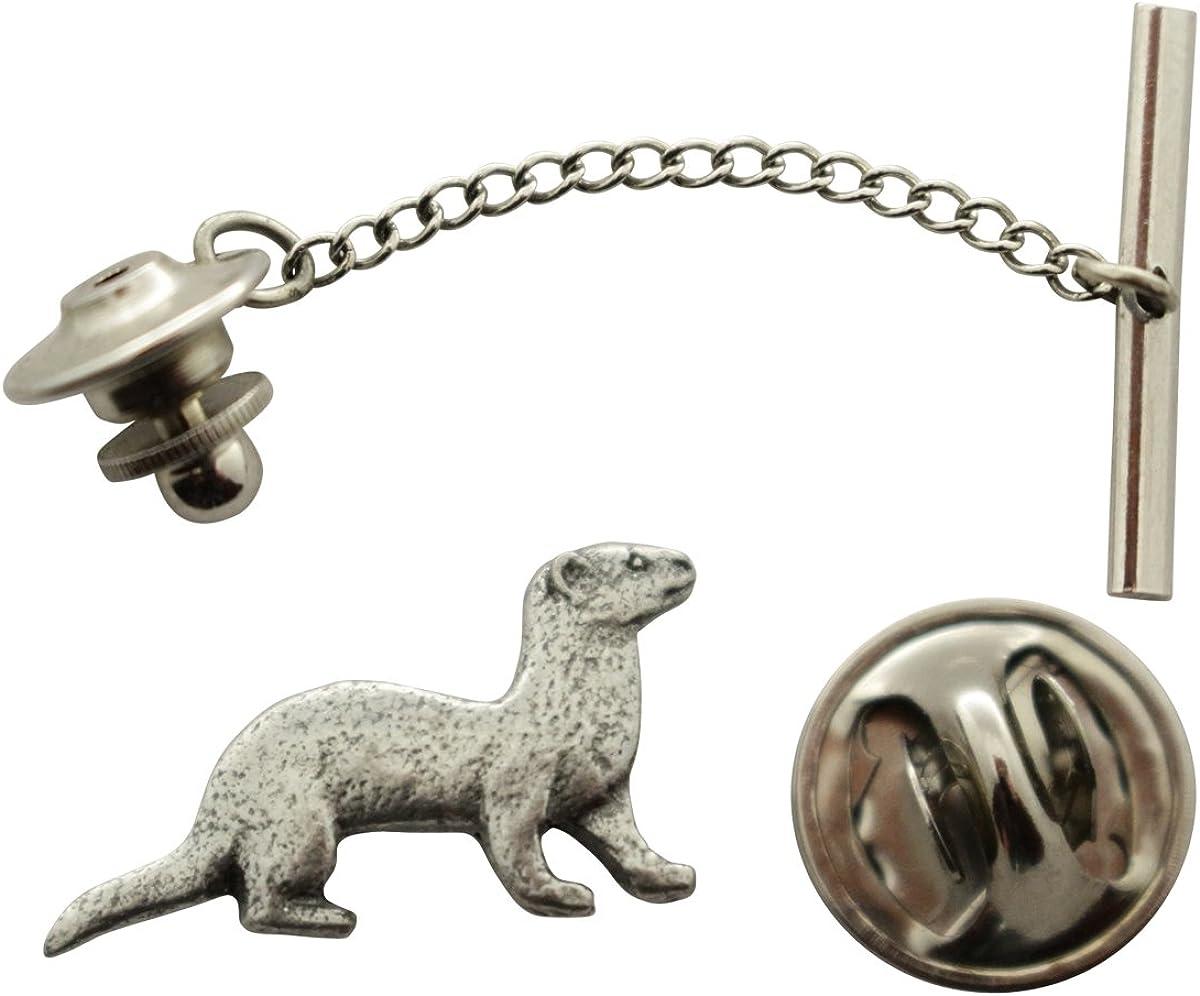 Sarah's Treats Treasures Ferret Tie Miami Mall Tack ~ T Pewter OFFicial Antiqued