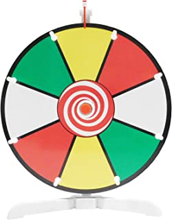 "Spinning Prize Wheel 12"" Color Face Dry Erase Spin Wheel with Classic Peg Design"