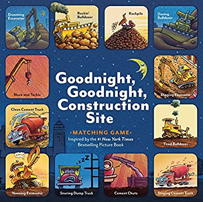 Goodnight, Goodnight, Construction Site Matching Game: (Matching Games for 2-4 Year Olds, Matching Games for Kids, Memory Matching Games)