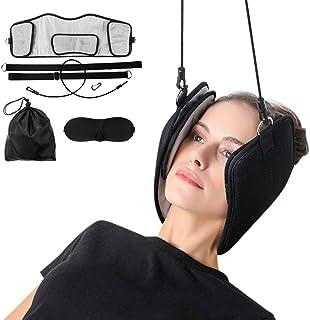 Neck Head Hammock with Free Sleeping Eye Shiled Storage Bag Neck Traction Stretcher