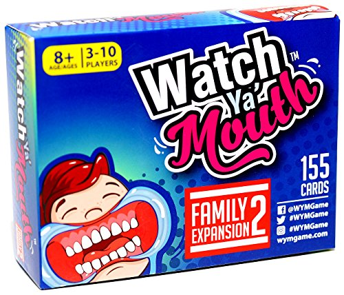 Watch Ya' Mouth Family Expansion #2 Card Game Pack, for All Mouth Guard Games