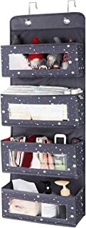 Lemonfilter Over The Door Organizer with 4 Larger Pockets, Clear Window Pocket Organizer Hanging Storage Organizer for Pan...