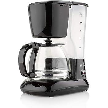 Tristar CM-1245 Cafetera Adecuada para 10-12 Tazas con Jarra de Cristal de 1,25 L, 750 W, 1.25 litros, Plástico, Negro: Amazon.es: Hogar