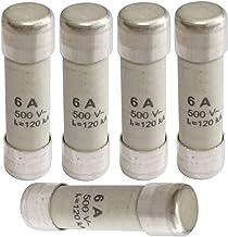 5pcs 10 x 38 mm tube en c/éramique fusibles cylindriques Liens 380V 6A