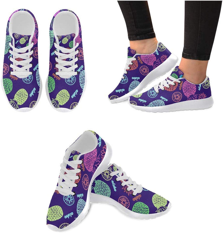 InterestPrint Women's Sneakers Beautiful Ornament Jogging Work shoes Lightweight Sport Running Flats