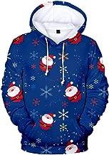 YOCheerful Christmas Sweatshirt Fashion Women 3D Printing Long Sleeve T Shirt Party Hooded Pullover