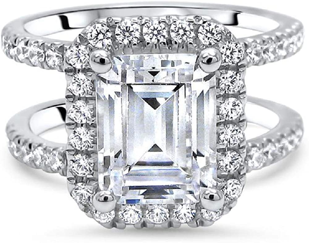 PB Collection 925 Sterling Cheap mail order specialty store Silver Zirconia Cubic CZ Emerald free shipping Cut