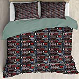 HELLOLEON London Extra Large Quilt Cover Cute Hearts Love Travel Can be Used as a Quilt Cover-Lightweight (Twin)
