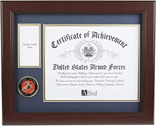 Allied Frame U.S. Marine Corps Medal and Award Frame with Medallion -13 x 16