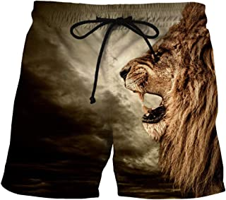 Men'S Shorts 3/4 Quick-Drying Beach Shorts Printing