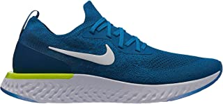 Nike Men's Epic React Flyknit Running Shoe Green Abyss/White/Blue Force/Volt 12 M US