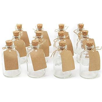 tama/ño mini dorado Hocz Botellas de cristal vac/ías 6//10 piezas volumen de llenado de 20 ml simplemente coloque su propio aceite color de la tapa dorado para botellas de muestra licor 6 unidades