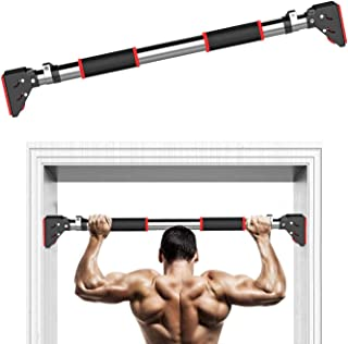 """EMAIS Pull Up Bar, 440 LBS Doorway Chin Up Bar NO Screws for Home Gym Exercise Fitness Equipment, Workou Bar Fit 28"""" - 48""""..."""