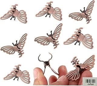 cuhair 10pcs Vintage Alloy Metal Punk Butterfly Bangs Mini Hair Clip Barrettes Hair Claw Hair Accessories For Women Girl