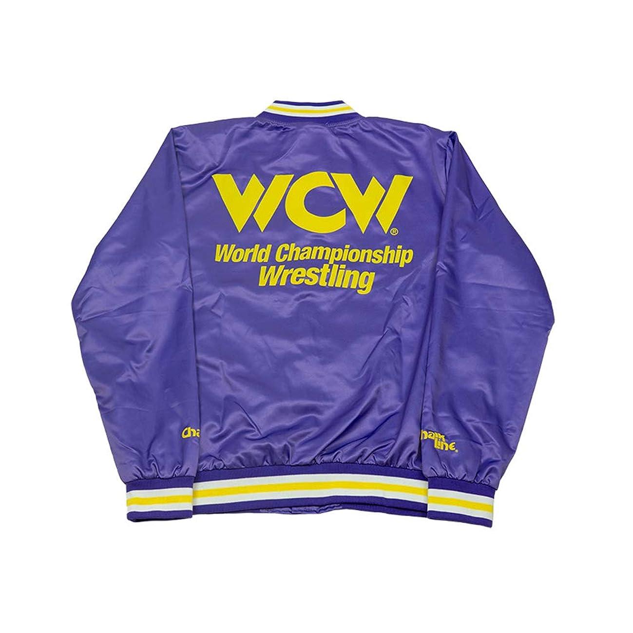 WWE WCW Purple Satin Chalk Line Jacket