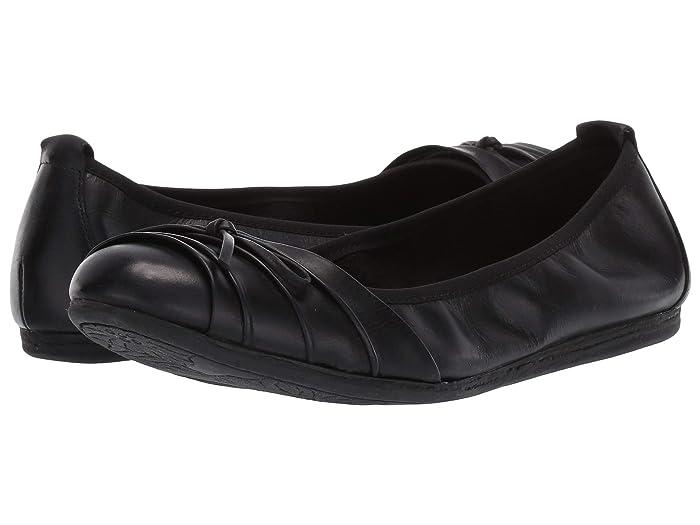 Born  Chelan (Black Full Grain Leather) Womens Flat Shoes