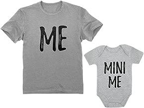 Dad and Son Matching Matching T-Shirt & Bodysuit Funny Me & Mini Me Matching Set