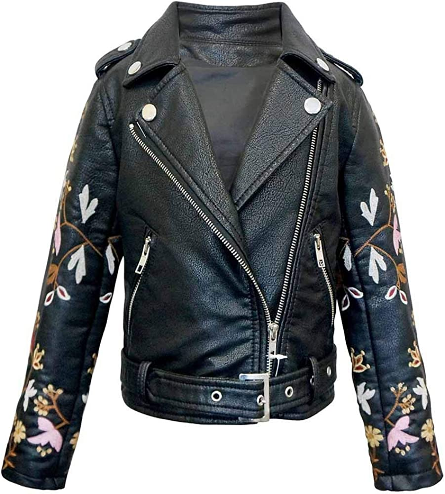 Hannah Banana Black Faux Jacket Louisville-Jefferson County Mall Embroidered Biker Leather Indefinitely