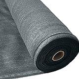 Masgard brise vue renforcé anthracite 150 g/m² brise vent tissu d'ombrage...