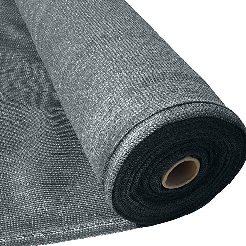 Masgard® Schattiergewebe 150 g/m² Verschiedene Abmessungen (Schattierwert ca. 90%) Sonnenschutz Sichtschutz Windschutz Zaunblende (1,00 m x 25,00 m = 25 m² (Rolle), Anthrazit)