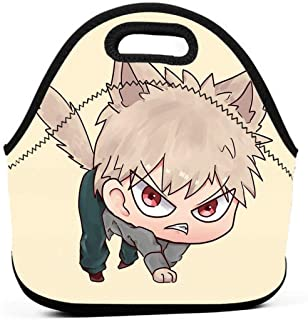 KILILY Bakugo Neko Men Women Kids Insulated Lunch Bag Tote Reusable Lunch Box For Work Picnic School