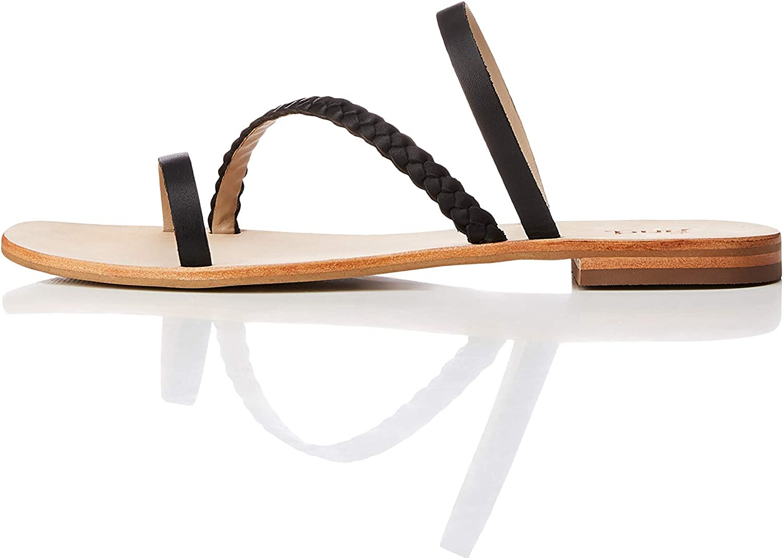 Find. Women's Diagonal Weave Mule Sandal Black US 10
