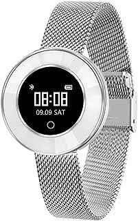 Reloj Inteligente para Mujeres, IP68 Impermeable Monitor de Sueño Reloj Pulsómetro Rastreador de Ejercicios Recordatorio sedentario Bluetooth Podómetro