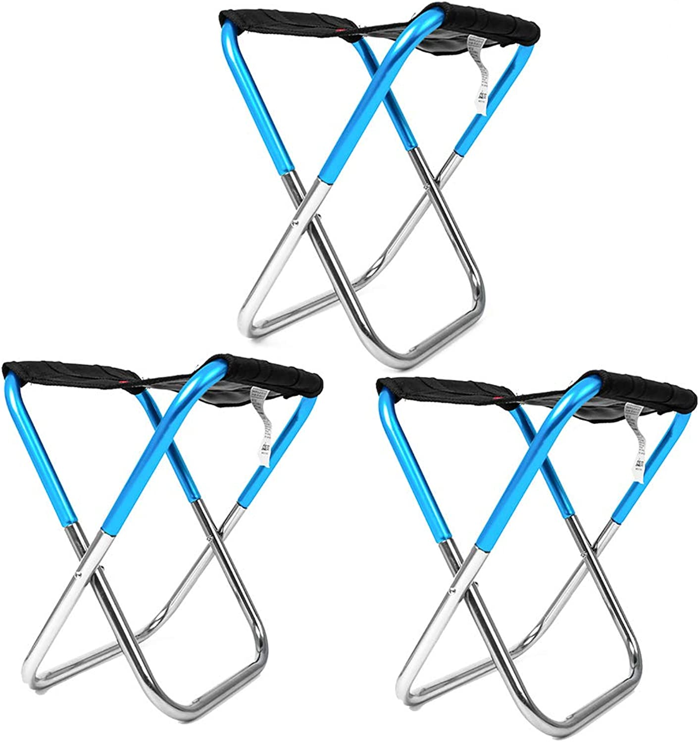Compact Camping Folding Chair with Carry Bag,Supports 80kg,for Outdoor Camp, Travel, Picnic, Festival, Hiking,B,3pcs