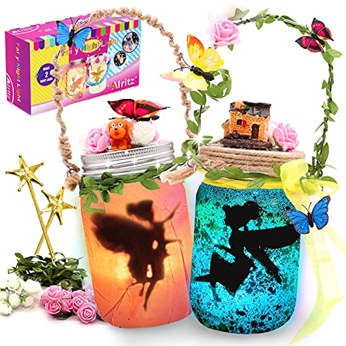 Alritz Fairy Lantern Craft Kit - Gift for Kids Ages 4-12 - Remote Control Mason...