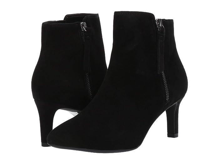 Clarks  Calla Blossom (Black Suede) Womens  Shoes