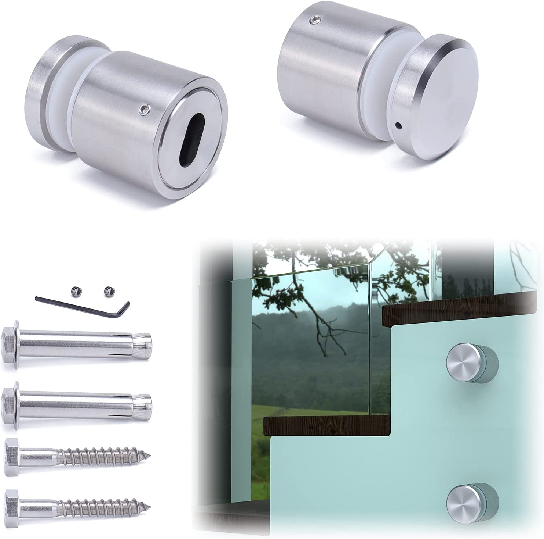 Muzata Weekly update Glass Standoff Screws Heavy Stainless 4 years warranty T304 Gla Steel Duty