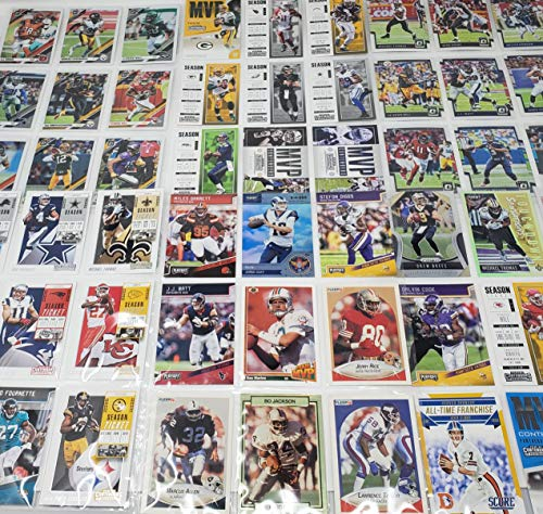 Football Themed Birthday Party Favor Pack Featuring 25 Star Football Player Cards