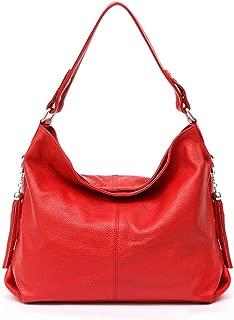 Fashion Soft Real Genuine Leather Tassel Women Handbag Elegant Ladies Hobo Shoulder Bag Messenger