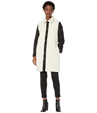 Madewell Camden Sherpa Coat with Wool Sleeves (Natural Sherpa As He) Women
