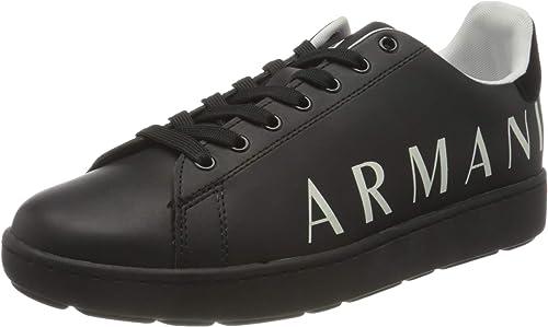 Armani exchange sneakers, scarpe da ginnastica uomo side big logo XUX084XCC6500002