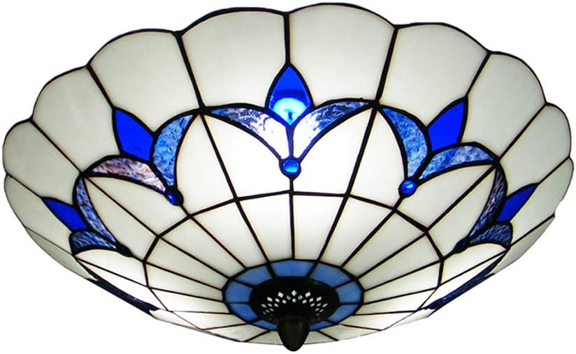 BAYCHEER HL298682 Tiffany Max Free shipping anywhere in the nation 89% OFF Style Ceiling Flush Mount Fixture Ceil