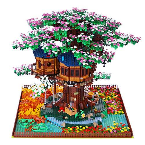 Bulokeliner Sakura Bausteine Bausatz, Kompatibel Mit Lego 21318 Baumhaus Erweiterung Set - Ohne Lego Set