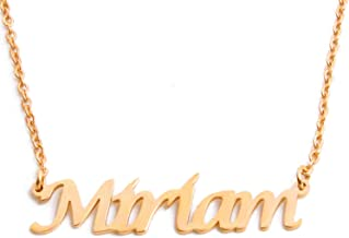 Kigu Miriam Custom Name Necklace Personalized - 18ct Gold Plated