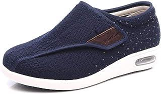 B/H Hommes Femmes Chaussons Diabétiques,Chaussures de vieillesse Ajustables de Grande Taille Printemps et été, Chaussures ...