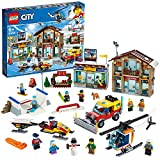 LEGO CityTown StazioneSciistica con Elicottero, Spazzaneve Mobile,Motoslitta e 2 Edifici, Set Invernale, 60203