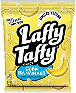 Laffy Taffy Limited Edition Gone Bananas! 2 bags 3.5 OZ each! Great for the Office or Class Room! Individually Wrapped with JOKES On Every Wrapper!!