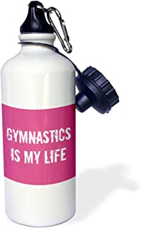 3dRose Gymnastics Is My Life Pink White-Sports Water Bottle, 21Oz (Wb_195360_1), 21 Oz, Multicolor