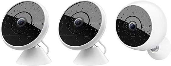 Logitech Circle 2 Indoor/Outdoor 1080P Surveillance Camera Multi-Pack (2 Wired + 1 Wire-Free) - 961-000479