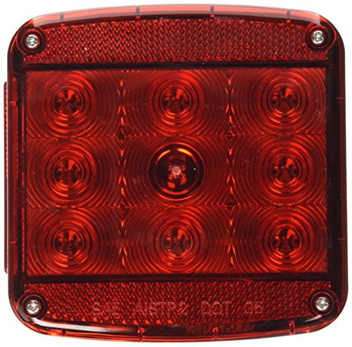 Peterson Manufacturing Piranha Square LED Stop/Turn/Tail Trailer Light - 4.76in., With License Light, Model# V840L