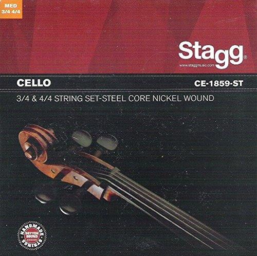 Stagg CE-1859-ST - Juego de cuerdas para chelo