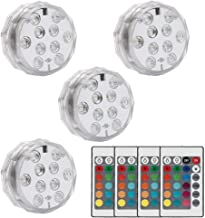 HuldaqueenMX Luz LED con Control Remoto Batería alimentada RGB Color Multicolor Luz Impermeable para Base de florero